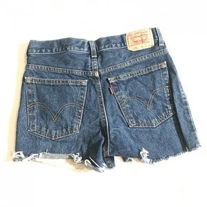 Vintage Levi High Waisted Cut off Denim shorts